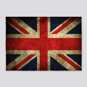 Grunge Uk Flag 5'x7'Area Rug