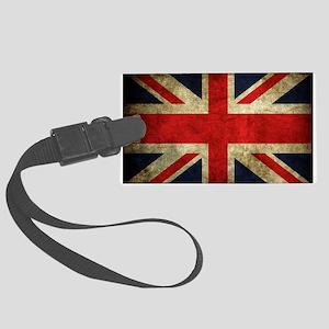 Grunge Uk Flag Luggage Tag