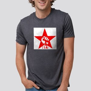 Red Star Fist Ash Grey T-Shirt