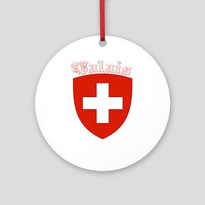 Valais, Switzerland Ornament (Round)