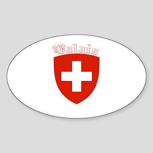 Valais, Switzerland Oval Sticker