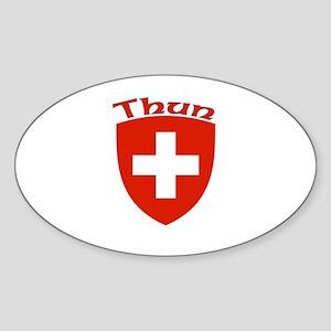 Thun, Switzerland Oval Sticker