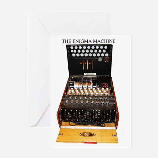 the enigma machine Greeting Cards