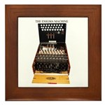 The Enigma Machine Framed Tile