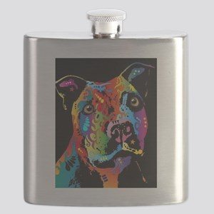Pit Bull Art Flask