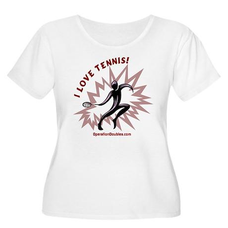 Women's Plus Size Scoop Neck Tennis T Shirt