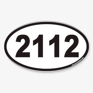 2112ovals Sticker