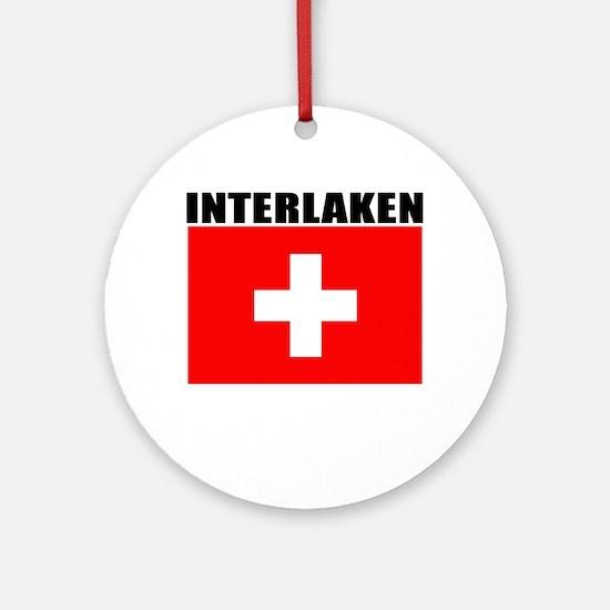 Interlaken, Switzerland Ornament (Round)