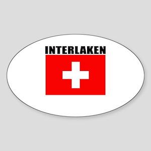 Interlaken, Switzerland Oval Sticker