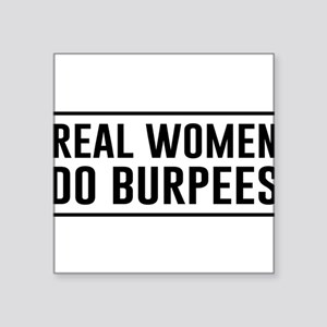 Real women do burpees Sticker