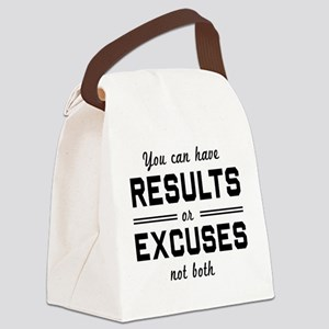 Results or excuses not both Canvas Lunch Bag
