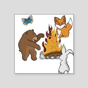 Camp Fire Animals Sticker