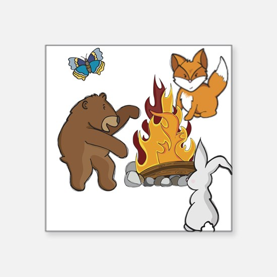 Camp Fire Animals Sticker