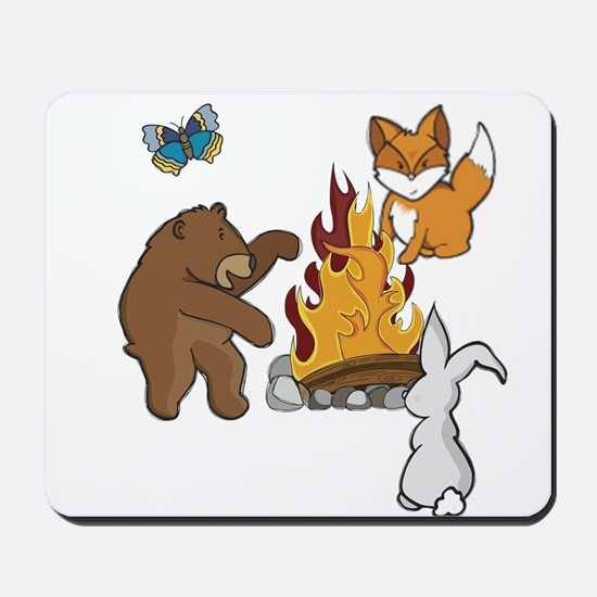 Camp Fire Animals Mousepad