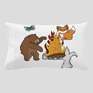 Camp Fire Animals Pillow Case