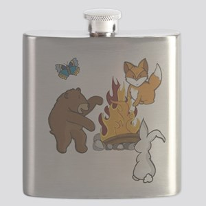 Camp Fire Animals Flask