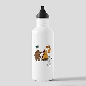 Camp Fire Animals Water Bottle