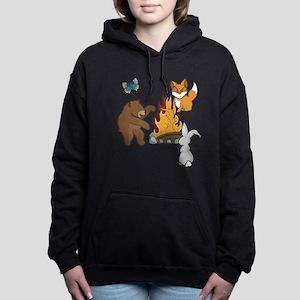 Camp Fire Animals Women's Hooded Sweatshirt