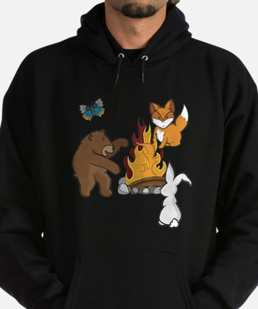 Camp Fire Animals Hoodie