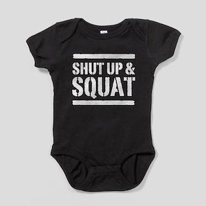 Shut up & squat 2 Baby Bodysuit