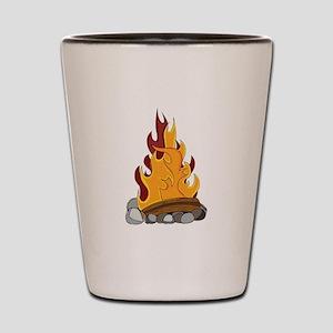 Camp Fire Shot Glass