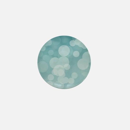 Aqua Bokeh Mini Button
