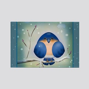 Blue Bird Winter Magnets