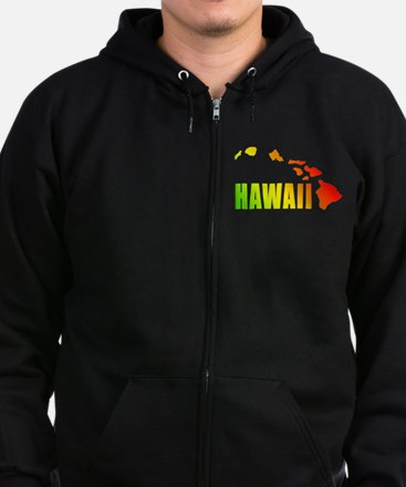 Hawaiian Islands Zip Hoodie