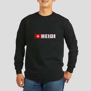 Heidi, Switzerland Long Sleeve Dark T-Shirt