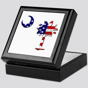 Red White and Blue Palmetto Keepsake Box