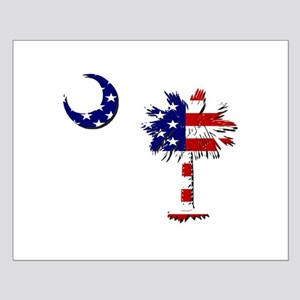 Red White and Blue Palmetto Small Poster