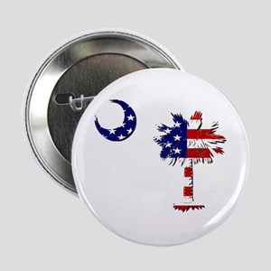Red White and Blue Palmetto Button