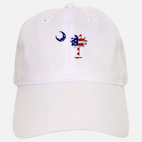 Red White and Blue Palmetto Baseball Baseball Cap