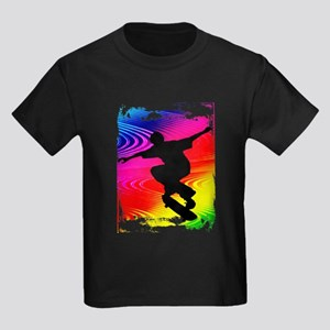 Rainbow Grunge Skateboarder T-Shirt