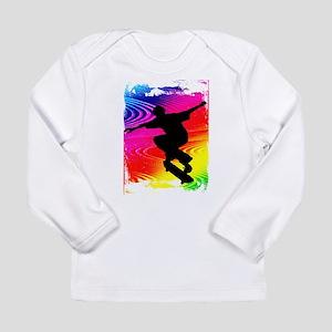 Rainbow Grunge Skateboarder Long Sleeve T-Shirt