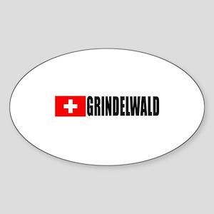 Grindelwald, Switzerland Oval Sticker