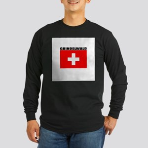 Grindelwald, Switzerland Long Sleeve Dark T-Shirt