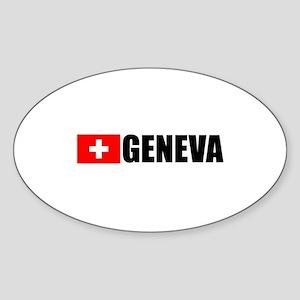 Geneva, Switzerland Oval Sticker