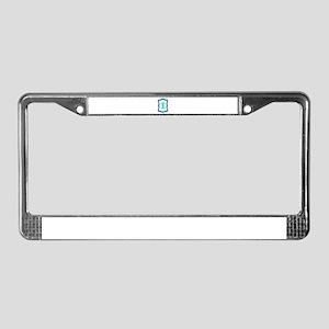 Number One Teal Black License Plate Frame