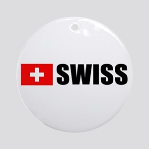 Swiss Flag Ornament (Round)
