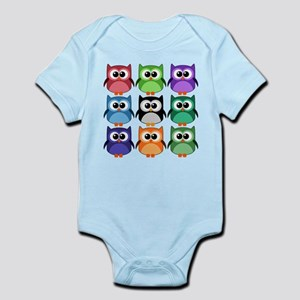 Rainbow of Cute Owls! Body Suit