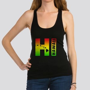 HI - Hawaii Rasta Surfer Colors Racerback Tank Top