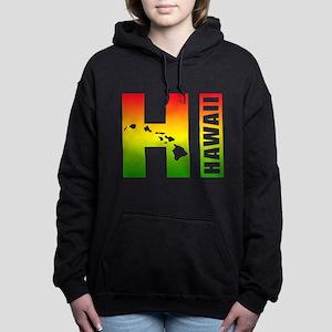 HI - Hawaii Rasta Surfer Women's Hooded Sweatshirt