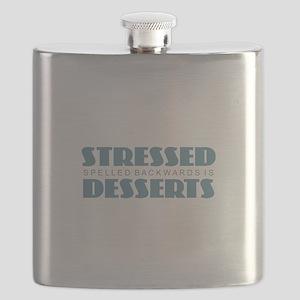 Stressed Spelled Backwards Flask