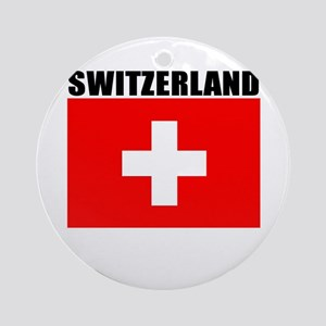 Switzerland Flag Ornament (Round)