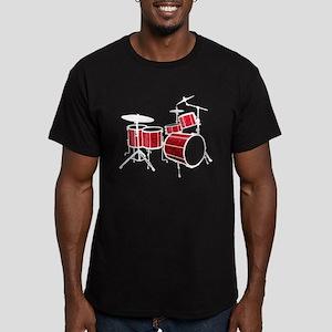 Cool Drum Set - Drumme Men's Fitted T-Shirt (dark)