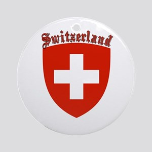 Switzerland Coat of Arms Ornament (Round)