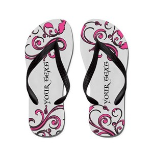 b39101b028c26 Personalized Pink Whimsy Goth Flip Flops