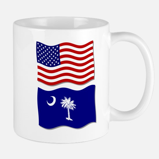 USA and SC Flags Mug