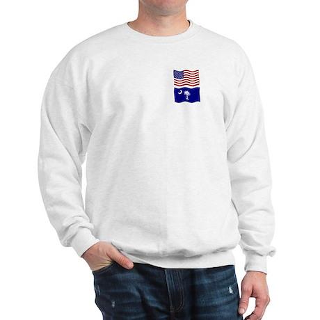 USA and SC Flags Sweatshirt